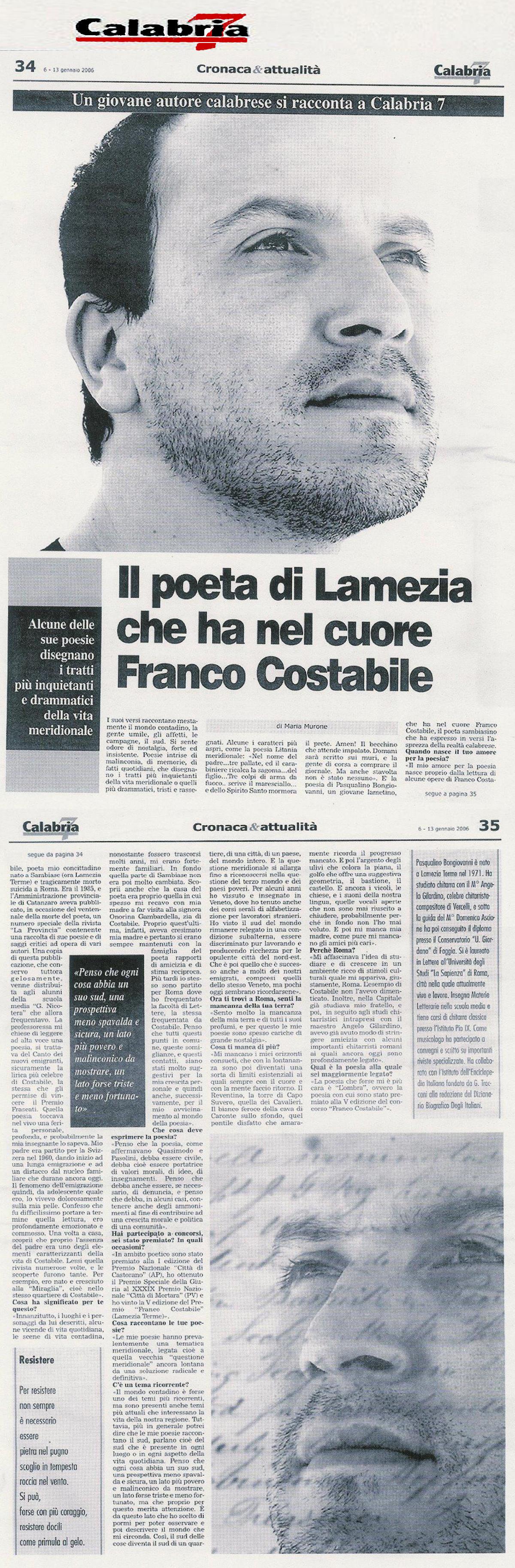 Calabria 7 intervista completa