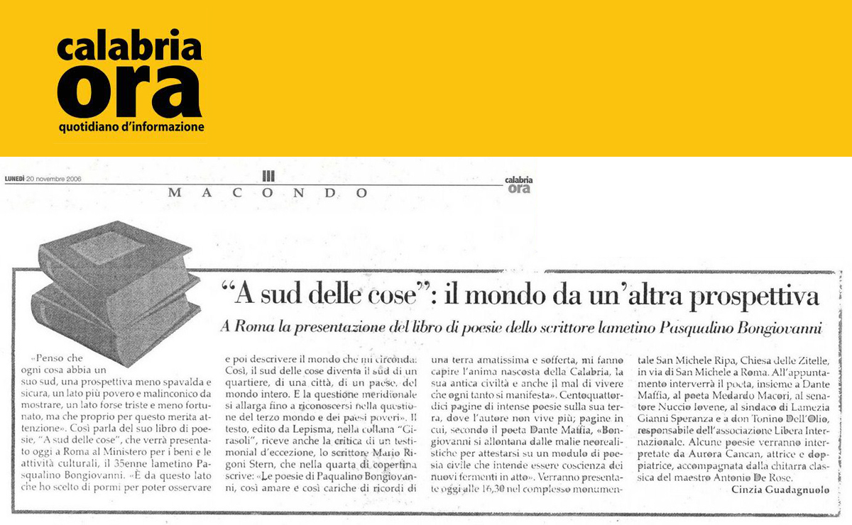 Calabria Ora 20 novembre 2006