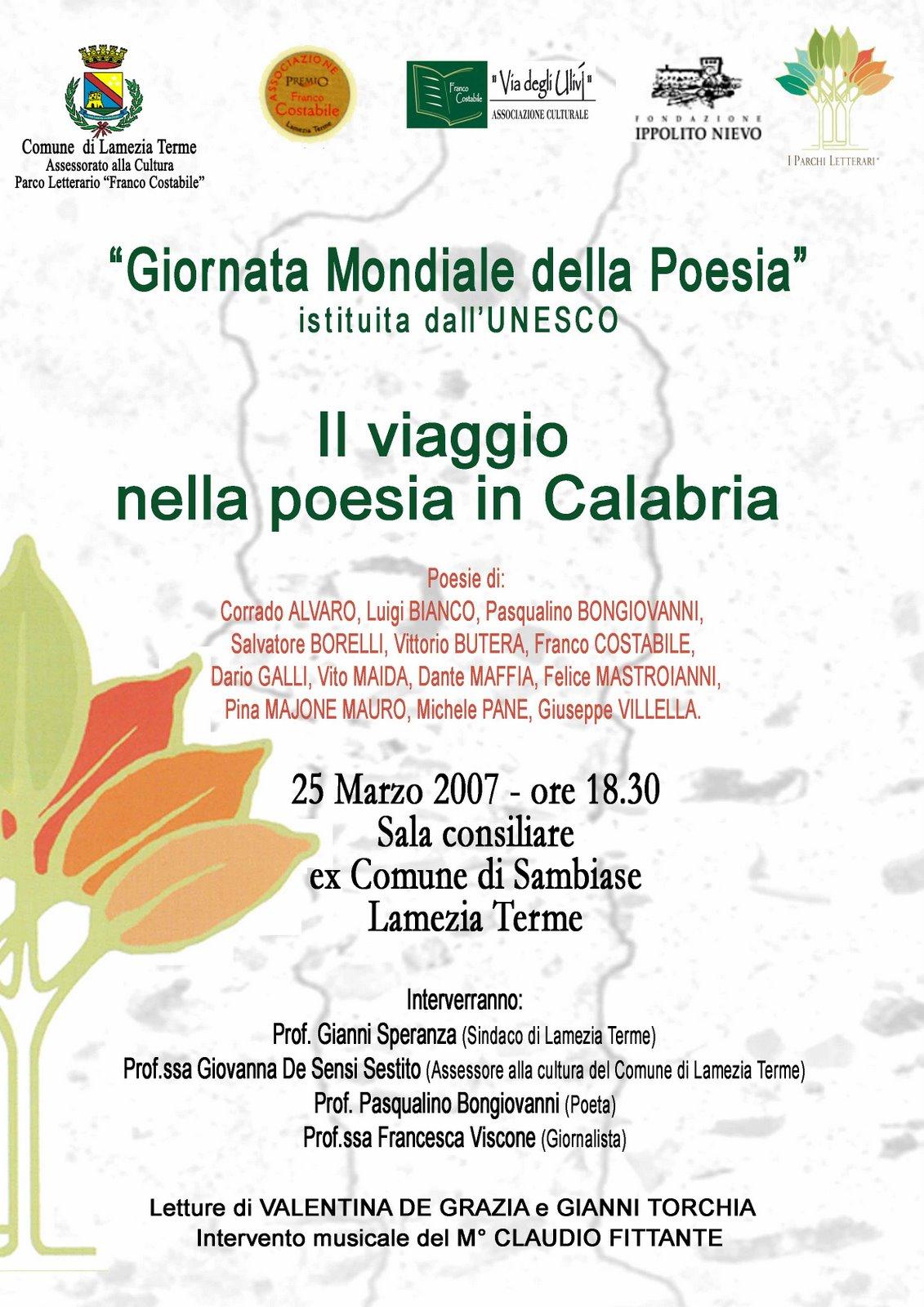Giornata Poesia Unesco