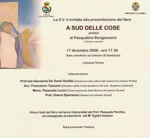 Bongiovanni - A sud delle cose - Lamezia Terme - 2006