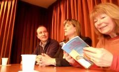 Presentazione di Al sur de las cosas – Associazione Dante Alighieri (sede Belgrano) – Buenos Aires – 2012 (da sx: Pasqualino Bongiovanni, Cristina Borruto, Maria D'Alessandro)