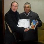 Con il Presidente del Circulo de periodistas y medios Almafuerte de La Matanza, Jorge Ricardo Daniel Victorero - Buenos Aires - 2012