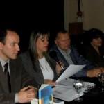 Presentazione di Al sur de las cosas – Associazione Ital Club di Ramos Mejía – Buenos Aires - 2012 (da sx: Pasqualino Bongiovanni, Cristina Borruto, Adalberto Dal Lago, Maria Ester Peronace)