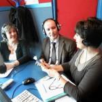 In diretta dagli studi di Radio Amplitud AM660 nella trasmissione Avanti Morocha condotta da Gabriela Calafati – Buenos Aires - 2012 (Cristina Borruto, Pasqualino Bongiovanni e Gabriela Calafati)