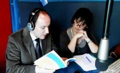 In diretta dagli studi di Radio Amplitud AM660 nella trasmissione Avanti Morocha condotta da Gabriela Calafati – Buenos Aires - 2012 ( Pasqualino Bongiovanni e Gabriela Calafati)