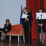 Letture in italiano di Pasqualino Bongiovanni (da sx: Aldina Mastroianni, Pasqualino Bongiovanni, Marie Marazita)