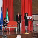 Traduzione e letture in francese a cura di Marie Marazita (da sx: Aldina Mastroianni, Pasqualino Bongiovanni, Marie Marazita)