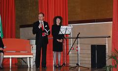 Intervento di Pasqualino Bongiovanni (da sx: Pasqualino Bongiovanni e Marie Marazita)