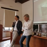 Intervento di Fortunato Amarelli (da sx: Fortunato Amarelli, Oscar Gastaldi)