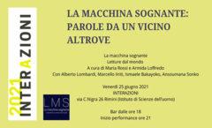 Rimini - 25 giu 2021 - Parole da un vicino altrove